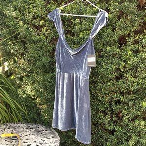 Silk-Rayon Velvet minidress